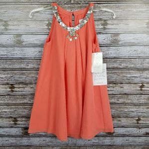 NWT Blush by Us Angels coral beaded dress 7